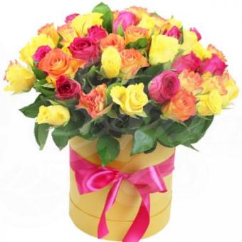 Коробочка из 39 роз Кения