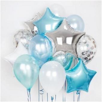Фонтан из шаров «Голубой»