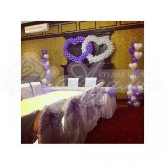 Оформление шарами на свадьбу «Комплект № 12»