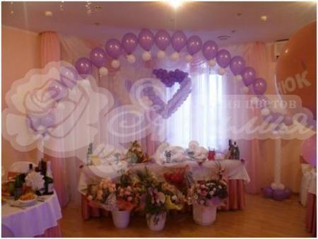 Оформление шарами на свадьбу «Комплект № 14»