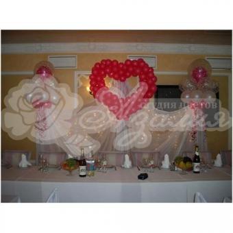 Оформление шарами на свадьбу «Комплект № 18»